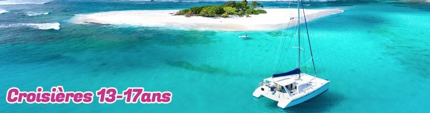 Croisières voile aux Antilles pour les jeunes jusqu'à 25 ans.
